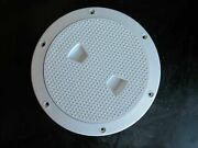 Beckson 6 Non-skid Screw-out Deck Plate - White Dp62-w Inspection Hatch