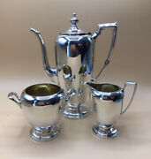 Antique - Pointed Antique Reed And Barton Sterling 3-piece Demitasse Set - D87