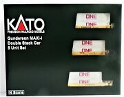 N Kato 106-6197 Ttx 759350 Maxi-i 5-unit Well Car Set W/gray One Containers