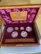 2008 Beijing Olympic Gold And Silver 6 Coin Set Series 2 W/ Box And Coa