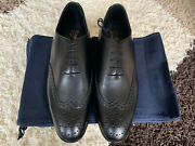 New George Cleverley Classic Black Dress Shoes Uk9e/us10d 750 Made In England