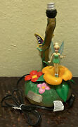 Walt Disney Peter Pan Tinkerbell Musical Moving Figurine Table Lamp With Movie