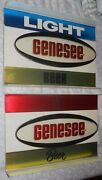 Two Genesee Beer 8x12 Signs, 1970's