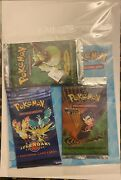 Pokemon Cellophane 3 Pack Legendary Collection Jungle And Gym Challenge Boosters