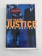 The Tenth Justice - Brad Meltzer Hardcover, Dust Jacket, Signed, 1997, 1st Ed