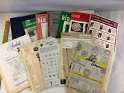 Lot Of Vintage Antique Watch Clock Making Catalogs Instructions Books Manuals