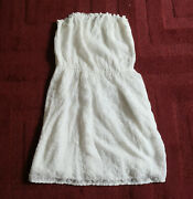Nwt Abercrombie Vintage Women Junior Strapless White Lace Dress Summer Party