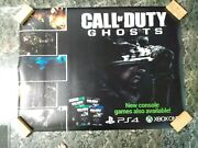 4and039 X 3and039 Call Of Duty Ghosts Video Game Store Vinyl Poster Ps4 Ps3 Xbox One 360