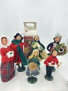 Lot Of 6 Htf Byers Choice Victorian Carolers Mint Cond With Boxes Early 2000's
