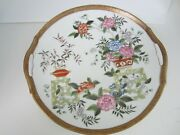 Antique Nippon Japanese Porcelain Display Plate W/ Floral Theme