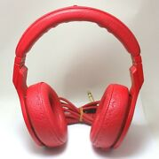 Fendi Beats By Dr Dre - Pro Wired Leather Headphones Red Fire Limited Edition