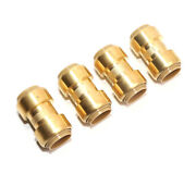 4 Pack 3/4 Brass Plumping Coupling Push-to-connect Pex Fitting Copper Pex Cpvc