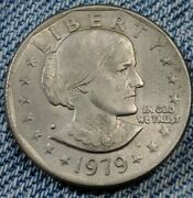 Susan B Anthony 1979 D Silver Dollar Error Coin Filled D Ddo And Ddr