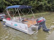 Pontoon Bmini Top Boat Cover 4 Bow 8ft.l 51h 75-82.5w Solution Dye Fabric New