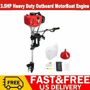52cc 2stroke 3.5hp Outboard Motor Heavy Duty Boat Engine Air Coolingandcdi System