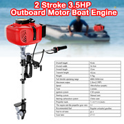 3.5hp Heavy Duty Outboard Motor Air Cooling Durable Cast Aluminum Structure