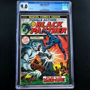 Jungle Action 5 Marvel 1973 💥 Cgc 9.0 💥 1st Black Panther In Title Comic