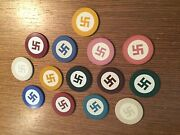 Vintage American Native Clay Not Swastika Poker Chips Pls Read Letter From Ebay