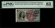 Fr-1269 0.15 Fourth Issue Fractional Currency - 15 Cent - Graded Pmg 63