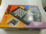 Saitek Electronic 4 In 1 Games Vintage 1999 Chess Checkers Line Of 4 Top Mind