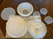 Vtg Tupperware Jello Mold 4 Inserts / Relish Tray W/plate And Cover Fits Both