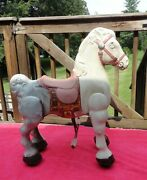 Vintage 1950's Mobo Metal Mechanical Ride On Horse - Rare - Made In England