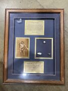Authentic Civil War Relics Framed 3 Ring Mini-ball By Billy Martin