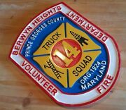 Fire Department Berwyn Heights Georges 3d Routed Wood Patch Sign Carved