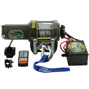 12v Electric Waterproof Kit W/ Mounted Switch And Steel Cable 3500lb Atv Winch Utv