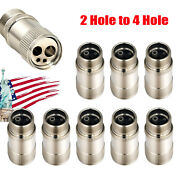 1-10pcs 2 To 4 Hole Changer Connector Adapter For Dental High Speed Handpiece