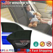 2pcs Car Uv Protection Screens Sun Shade For Car Windshield Anti-mosquito Net Us