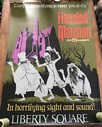 Attraction Poster 36x54 Wdw Magic Kingdom Haunted Mansion Rare Full Size Prop