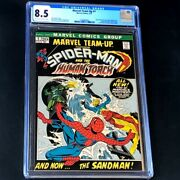 Marvel Team-up 1 💥 Cgc 8.5 Ow-w 💥 Spider-man And Human Torch 1972 Comic