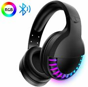 Gaming Headset Microphone Led Bluetooth Headset Stereo Surround For Pc Ipad Mac
