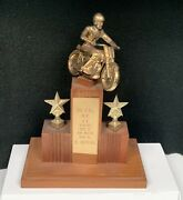 Vintage Rare Mar.10 1957 So. Calif. Motorcycle T.t. 3rd Place Racing Trophy Wow
