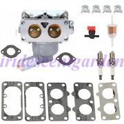 Carburetor W/gaskets Kit For Gravely 260 Mower With 25 Hp Kawasaki Engine