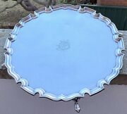 Large Sterling Silver 4 Footed Tray - Edward Barnard And Sons Ltd - London - 1937