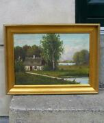 Antique Danish School Painting. Signed And Dated 1888.