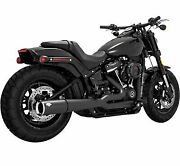 Vance And Hines 47587 Black Pro Pipe 2-1 2 Into 1 Exhaust Harley Softail M8 18-up