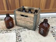 Vintage Wooden Milk Crate And Bottles Colverts Dairy Ardmore Oklahoma 12/1958
