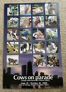 1999 Chicago Cows On Parade Commemorative Poster - Unframed