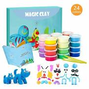 Modeling Clay Kit - 24 Colors Air Dry Ultra Light Magic Clay Soft And Stretchab...