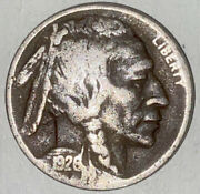 1926-s Buffalo Nickel Never Cleaned Xf Rare Date Struck Off Center