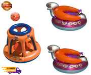 Basketball Hoop Toy And Ufo Lounge Chair Pool Float W/squirt Gun 2 Pack