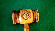 Early Olivewood Gavel From King Solomons Quarry Zedekiah`s Cave In Jerusalem