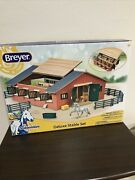 Breyer 59209 Stablemates Wooden Deluxe Stable Playset W/ 2 Horses Ends Aug 20