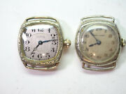 Waltham 14kt White Gold Filled Vintage Watches Run And Stop For Restoration