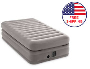 Inflatable Air Bed Mattress Elevated Twin Size Built-in Pump W/carry Bag 20 In