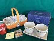Longaberger Early Blossoms Mothers Day Basket Liner Protector Tie On Flower Pots