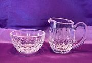 Mint Brand New Waterford Crystal Lismore Sugar And Creamer Set Made In Ireland